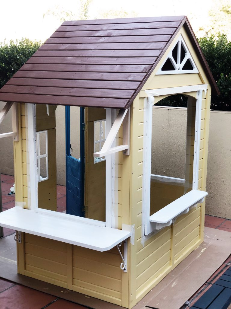 Assembling the Kmart cubby house hack