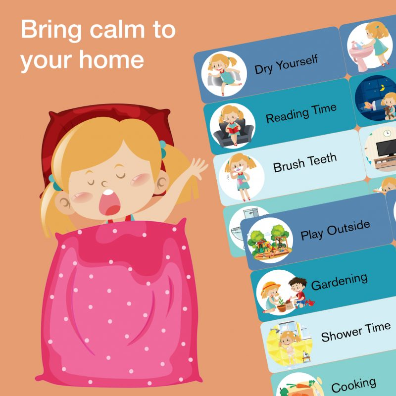 Printable toddler preschool daily routine chart cards - bring calm to your home