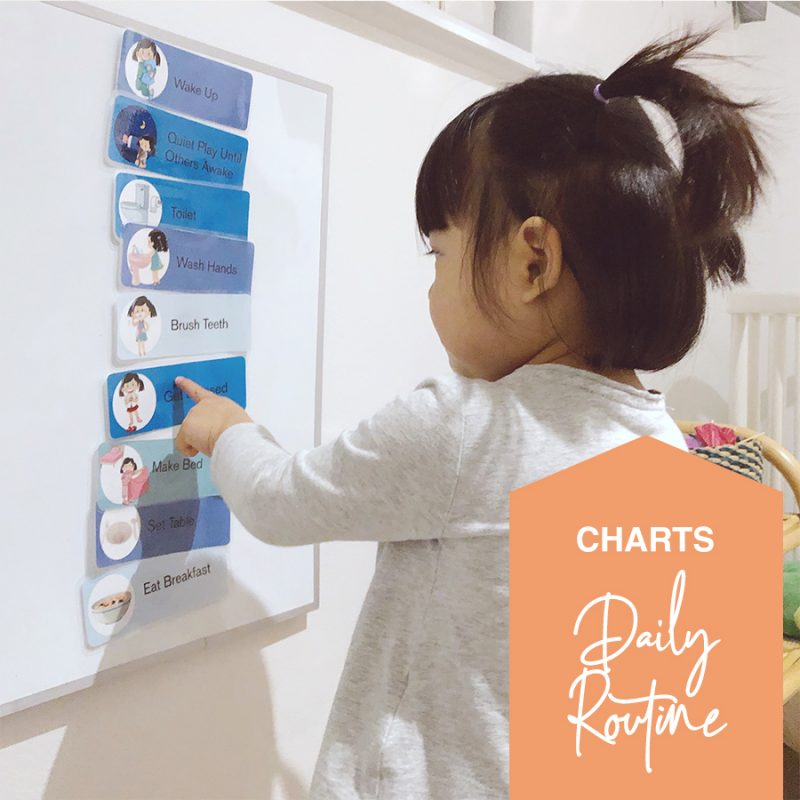 Printable toddler preschool daily routine chart