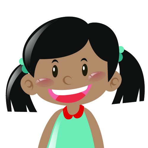 Dark skin girl