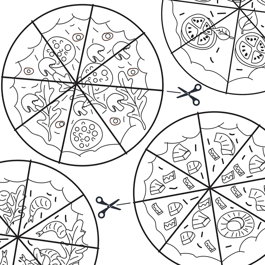 Free Pizza Cutting Skills Practice Printables Upgrade For Colour Mama S Got This