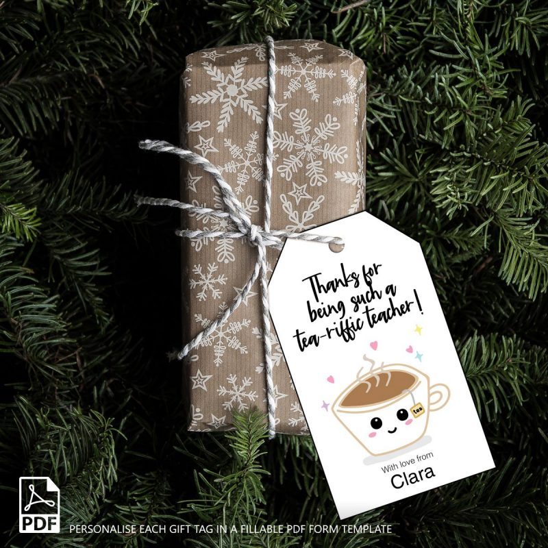 Teacher appreciation puns gift tags printable